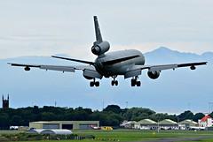 KC-10A Extender 83-0081 of U.S Air Force landing at Prestwick (EGPK) Scotland (Allan Durward) Tags: pik egpk prestwick glasgow scotland prestwickairport glasgowprestwick prestwickscotland kc10a extender tanker usaf usairforce dc10 douglas mcdonnelldouglas kc10aextender arran isleofarran 830081