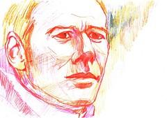 A VUELTAS CON EL RETRATO (2) (GARGABLE) Tags: portrait retrato sketch drawings dibujos apuntes lpicesdecolores gente gargable angelbeltrn