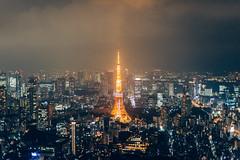 tokyo tower (ken_tsuda) Tags: street urban japan night 50mm tokyo nikon view nightscape f14 tokyotower d810 kentsuda roppongiskyview 20160629a4roppongiskyview9705