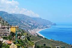 Taormina - coastal view 3 (Sussexshark) Tags: 2016 may holiday vacanza sicily sicilia taormina view coast northwards