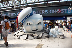 Stay Puft (cuppyuppycake) Tags: waterloo station uk london england ghostbusters movie stay puft cinema tourists underground indoor