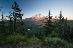 Mt Hood over Burnt Lake at sunset (Mike Moss) Tags: oregon mthood burntlake
