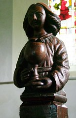 Photo of West Winch, Norfolk, St Mary, carving, 17th century, St John the Evangelist