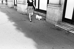 a woman. a dog. (gato-gato-gato) Tags: 35mm asph ch iso200 ilford leica leicamp leicasummiluxm35mmf14 leicasummiluxm50mmf14asph mp mechanicalperfection messsucher schweiz strasse street streetphotographer streetphotography streettogs suisse summilux svizzera switzerland wetzlar zueri zuerich zurigo zrich analog analogphotography aspherical believeinfilm black classic film filmisnotdead filmphotography flickr gatogatogato gatogatogatoch homedeveloped manual rangefinder streetphoto streetpic tobiasgaulkech white wwwgatogatogatoch zrich leicam6 m6 manualfocus manuellerfokus manualmode schwarz weiss bw blanco negro monochrom monochrome blanc noir strase onthestreets mensch person human pedestrian fussgnger fusgnger passant