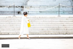 The yellow bag (Torbjrn Tiller) Tags: bag yellow street heels woman bologna italy