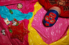 The not-so-awesome feeling of running out of cigarettes, running out of chocolates, and having your pool deflate (Studio d'Xavier) Tags: werehere prettypicturesofuglythings deflation outofcigarettes outofchocolate themaskedsuperstar pink pool luchador luchalibre 365 august202016 233366