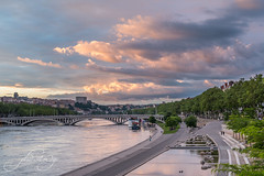 lyon, france (mangMangW) Tags: lyon france europe city urban sky clouds cityscape landscape travel trip nikond750 photography colors trees water river light sunset sunlight sunsetting
