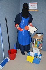 Toilet Cleaning Service (Buses,Trains and Fetish) Tags: toilet cleaning service niqab hijab burka chador girl housekeeping torture warm apron boots slave sweat