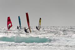 Band of sailors (stilsen) Tags: water watersport ocean waves blue windsurfing summer spain tenerife nikonphotography nikon elmedano