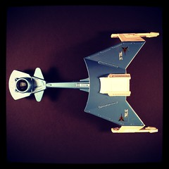 Vintage Klingon Battle Cruiser (WEBmikey) Tags: toys dinky startrek klingon