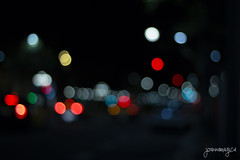 About last night. (Joana Ginart) Tags: photography fotografia bokeh effect efecto colours colores red blue white yellow night noche lights luces dark barcelona city ciudad canon 600d canon600d