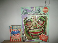 Green Grinning Skull Mask 6205 (Brechtbug) Tags: green grinning skull mask halloween semi vintage with regular sized uncle sam box ben cooper collegeville halco ghoulsville retro newspaper sunday funnies comics holiday costume comic strip book comicbook spy movie film cinema americana america freedom justice super hero spooky jumbo size