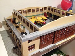 WIP (JonHall18) Tags: aircraft hangar work progress model lego dieselpunk moc in workinprogress