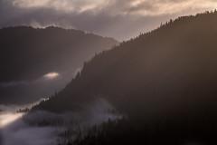 The Light Shines Through (Isaac Hilman) Tags: light sunlight rays fog mist mountains glowing shining nikon d800 flying princerupert bc canada