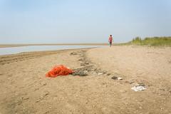 Solitude 1 (stevefge) Tags: dunkirk france landscape coast beach sand sea estuary people women oyeplage laflaqueauxoies reflectyourworld