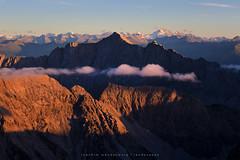 Far View (wende60) Tags: mountains dusk sunset clouds far view distance alps glow austria karwendel olperer