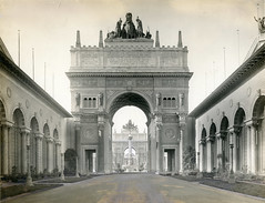 Pan-Pacific International Exposition (jericl cat) Tags: goldengate international exposition architecture building sanfrancisco bay exterior memorabilia panpacific panama pacific world worlds fair arch archway fountain setting sun 1914 1915 court universe star stars history