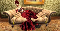 Realizing Mr. Michaelis is still there... (Allie Carpathia) Tags: victorian brothel absinthe roleplay autumn darkradiance secondlife