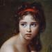 VIGÉE-LE BRUN Elisabeth,1792 - Julie Le Brun, en Baigneuse - Detail -c