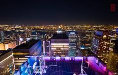 Top of the Rock (luyaozers) Tags: new york city cityscape lights night rockefeller sky skyscraper skyline nyc
