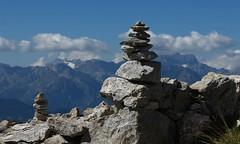 cairns (bulbocode909) Tags: valais suisse pierreavoi cairns montagnes nature paysages nuages bleu cailloux