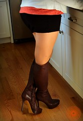 Wife (tcrowne1978) Tags: pantyhose wolford seamless tights nylons stockings boots skirt wife hotwife hotlegs