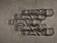 1 Set of 5 Stream Shadows (Poem Below) (Mertonian) Tags: concrete cement creative abstract sunset dusk shadowdancing twilight blues melancholy acedia plastic 1 shadows markii g7x powershot canon canonpowershotg7xmarkii robertcowlishaw mertonian curvy infinitesadness mood bw blackandwhite streams texture