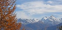 gants de roc et de glaces avec   sa majest,  le Weisshorn 4506m (luka116) Tags: panorama berg montagne alpes automne schweiz switzerland suisse swiss lac svizzera paysage moutain wallis barrage octobre valais montagnes 4000 weisshorn 2014 tseuzier