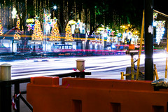Merry Christmas (Zhengyuan Tan) Tags: longexposure light car night canon photography rebel long exposure slow shutter tracing 700d t5i