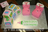 Baby Booties and Blocks Baby Shower Cake