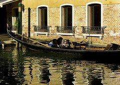 Time for a Nap (alison.dinneen) Tags: venice italy gondola gondolier