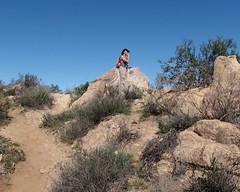 013 A Moment Of Contemplation (saschmitz_earthlink_net) Tags: california rocks orienteering runner rockformation aguadulce vasquezrocks losangelescounty 2015 laoc losangelesorienteeringclub