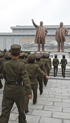 Mansudae Grand Monument (EleanorGiul ~ http://thevelvetrocket.com/) Tags: asia kimjongil northkorea pyongyang dprk coreadelnorte kimilsung nordkorea   koreanpeoplesarmy  coredunord coreadelnord mansudaegrandmonument justinames  coriadonorte visitnorthkorea httpthevelvetrocketcom eleonoragiuliani eleonoraames