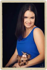 (MissSmile) Tags: dog pet girl smile lady studio framed memories frame misssmile