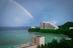 Rainbow view from Room at Westin (RCG Maru) Tags: rainbow rainbows guam tumonbay nikkohotelguam hotelnikkoguam guamphotography russellcgilbertphotography russellcgilbertunderwaterphotography rcgmaruphotography rcgmarucom guamscubadiving westinhotelguam rainbowandocean
