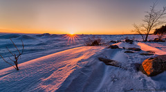 Georgian Bay Winter - Sun Set (digithief) Tags: winter sunset snow ontario canada ice frozen nikon midland d800 balmbeach