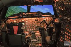 Cockpit, Concorde Flight Simulator (hjakse) Tags: uk england bristol unitedkingdom surrey concorde britishairways weybridge ffs bac vickers brooklands flightsimulator filton storbritannien redifon grosbritannien linkmiles