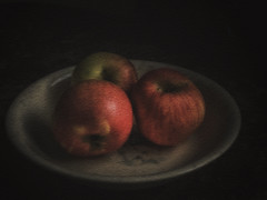 Northern Spies (Jos Pockett) Tags: old antique bowl apples layers grandmas northernspy ps6 pffood15
