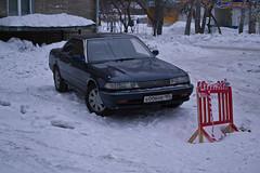 das Auto (sibwarden) Tags: road schnee snow ice water wasser frost siberia toyota eis strase siberiawinter sibirienwinter sibirienkaltautozeichenschmutz coldcarsign