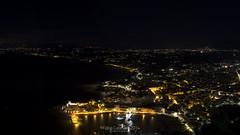 belvedere notturna (fabiocalandra) Tags: city light sea italy panorama beach landscape italia mare nightscape sicily sicilia paesaggio