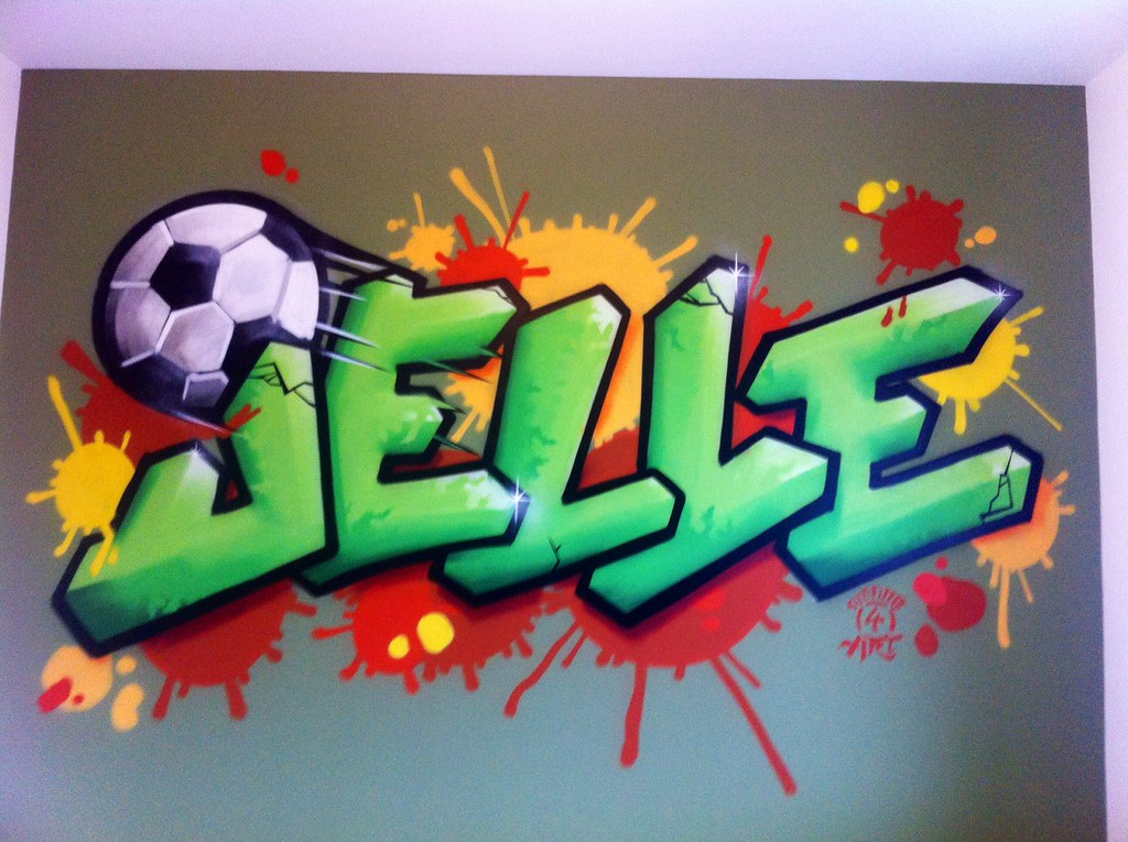 Behang Kinderkamer Voetbal : The world s newest photos of behang and mural flickr hive mind
