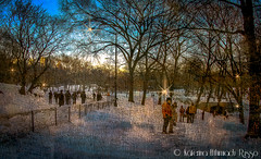 Ending of a snowy day at Central Park, NY ( Katerina) Tags: sunset snow ny newyork centralpark