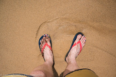 Feet (JimmyBBlaze) Tags: park cliff feet beach pool rain rock royal footprints sunny dirty national thongs coal kiama garie coalcliff