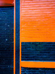 OrangeBlue.jpg (Klaus Ressmann) Tags: nyc blue autumn orange abstract chelsea olympus minimal system brickwall klaus omd em1 ressmann omdem1 flcstrart klausressmann olympusomdsystem