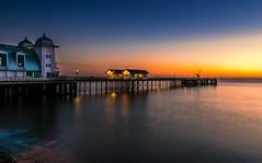 Penarth Sunrise (technodean2000) Tags: sea water wales sunrise pier nikon south cardiff penarth lightroom d5300
