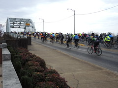 And They're Off (The Goat Whisperer) Tags: bridge bike bicycle march ride anniversary alabama civil rights montgomery 50th selma edmund pettus selma50ride