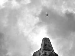 1 (photophile2012) Tags: camera sky blackandwhite bw chicago tower skyline architecture clouds skyscraper photography dslr bnw cloudscape cloudporn cloudscapes chitecture canont4i