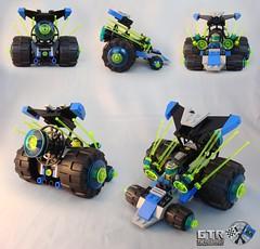 "21715 Unitron ""Neon Urchin"" (TFDesigns!) Tags: classic lego space rover racer unitron febrovery galacticterrestrialroverracingleague gtrrl"