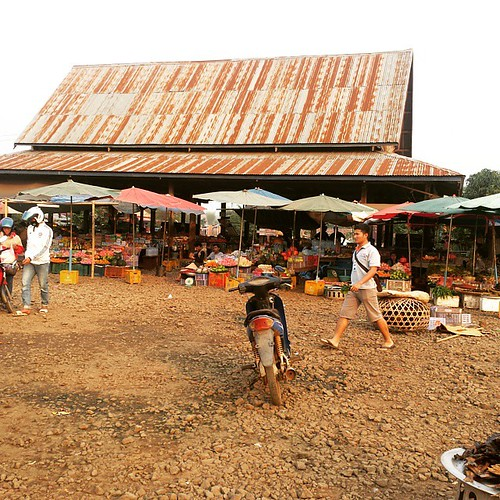 Open market. We stopped in delight whenever we chance upon sources of fresh fruits and other delicacies. We have eaten jackfruits, coconut, green mangoes by the roadside, struggling to communicate with the locals beyond the 'tiao dai' (how much). I love r