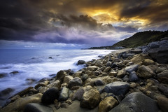 Malibu Beach (3dRabbit) Tags: ocean ca usa storm west color beach water rain clouds canon lens photography coast long exposure dramatic malibu national dreamy drama geographic flicker ef1740mm sungjinahn